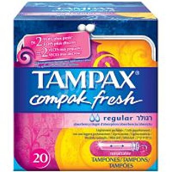 Tampax Tampón regular fresh Caja 20 unid