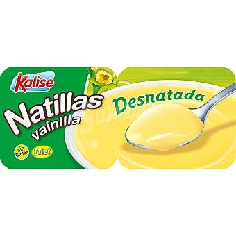 Kalise Natillas vainilla desnatada 0,6% m. g Pack 2 unidades 135 g