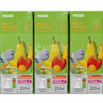 Eroski Bebida multifrutas con galleta Pack 6x20 cl
