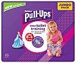 Pañales de aprendizaje talla 2-4, para niñas de 18 a 23 kilogramos 25 uds Huggies Pull-Ups