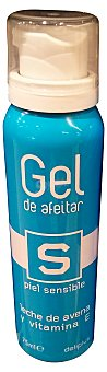 Deliplus Gel afeitar piel sensible (leche avena, vitamina E) Bote 200 cc