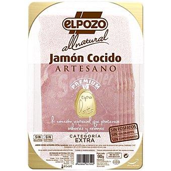 ElPozo All Natural jamón cocido artesano tipo lata en lonchas  envase 90 g
