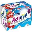 Actimel para beber de fresa 0% 6 unidades de 100 ml Actimel Danone