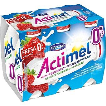 Actimel Danone Actimel para beber de fresa 0% 6 unidades de 100 ml