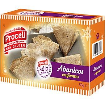 Proceli Abanicos crujientes sin gluten Envase 50 g