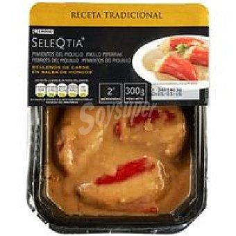 Eroski Seleqtia Pimientos rellenos de carne Bandeja 300 g