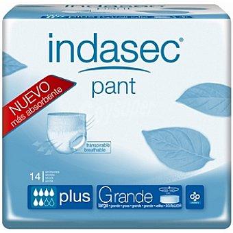 INDASEC compresa de incontinencia Pant Plus talla grande paquete 14 unidades