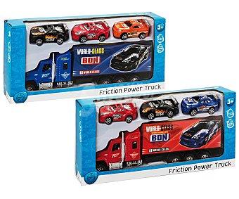 Productos Económicos Alcampo Camión de Transporte de Coches con 3 Coches 1 Unidad