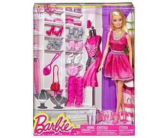 BARBIE Muñeca Barbie con zapatos y bolsos 1 Unidad