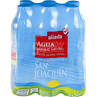 Aliada Agua mineral natural 6 botellas de 50 cl