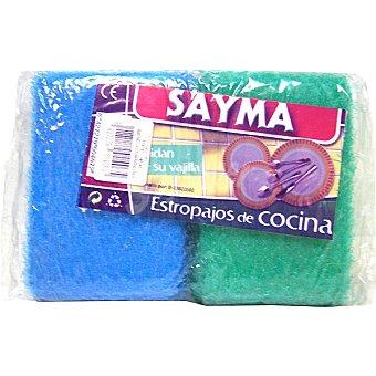 Sayma Estropajo con esponja de cocina paquete 2 unidades