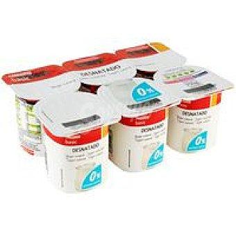 Eroski Basic Yogur desnatado natural Pack 6x125 g