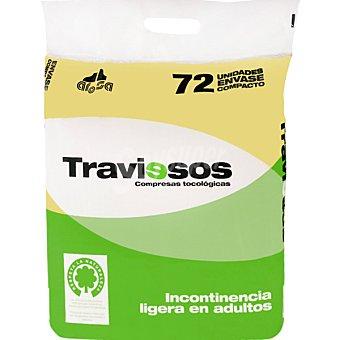 TRAVIESOS Compresa de incontinencia ligera de adultos 72 unidades