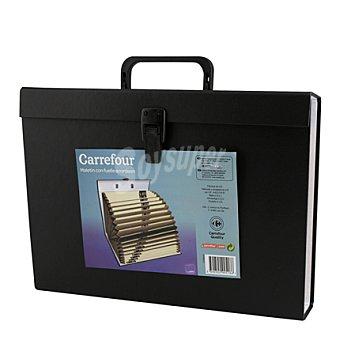 Carrefour Maletin clasificador 20 bolsas forrado plástico 1 ud