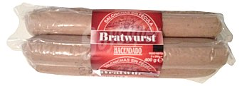 Hacendado Salchicha bratwurst grandes 2 un. Pack 2 x 200 g - 400 g