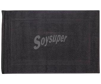 Actuel Alfombra de baño 100% algodón, /m² de densidad, 50x80cm., color gris oscuro actuel 1100 g