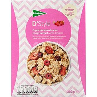 Aliada Cereales de desayuno en copos tostados de arroz y trigo integral con frutos rojos Paquete 300 g