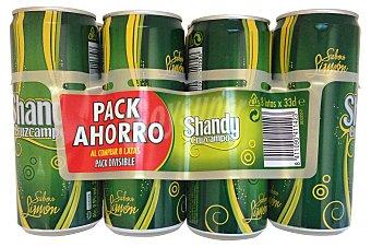 Cruzcampo Cerveza shandy con limon sin alcohol Lata pack 8 x 330 cc - 2640 cc