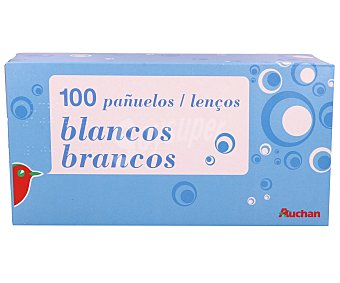 Auchan Pañuelos blancos Paquete de 100 unidades