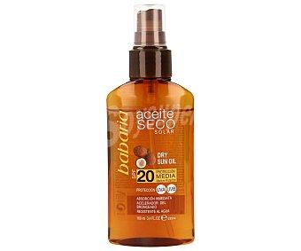 Babaria Aceite solar corporal en spray con factor protección 20 (media) 100 mililitros