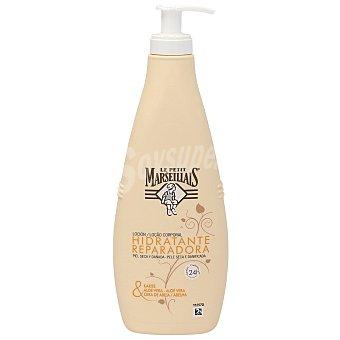 Le Petit Marseillais Loción reparadora piel seca y dañada (karite+aloe+cera abeja) 400 ml