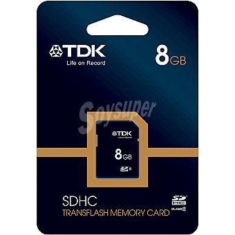 TDK Class S4 Tarjeta de memoria sdhc Clase 4 de 8 GB