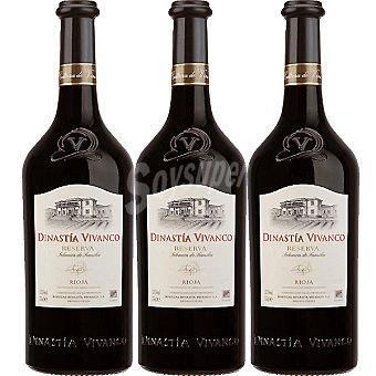 DINASTIA VIVANCO vino tinto reserva D.O. Rioja estuche 3 botellas 75 cl