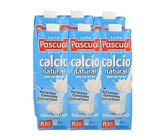 Pascual Leche Semidesnatada Calcio Pack 6x1 litro