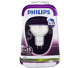 Philips Foco led dicroico 3.5W, con casquillo GU10 y luz cálida 1 unidad
