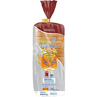 DiaBalance Pascual pan rústico de molde especial al gluten (14%) ayuda a normalizar los niveles de glucosa Bolsa 410 g