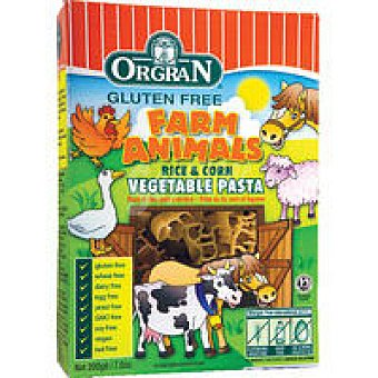 Orgran Rice&corn vegetable pasta animal Caja 200 g