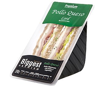 Lord Sandwiches Sándwich de pollo ahumado con salsa y especias y queso 220 gramos