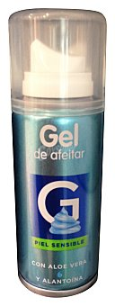 Deliplus Gel afeitar piel sensible formato viaje Botella de 75 ml