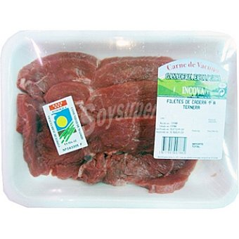 INCOVA Ternera ecológica filetes de 1ª A peso aproximado Bandeja 400 g