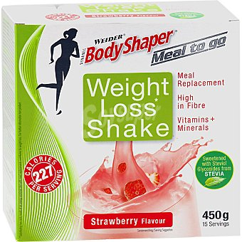 WEIDER Weight Loss Shake batido sustitutivo sabor fresa 15 sobres envase 450 g 15 envase 450 g