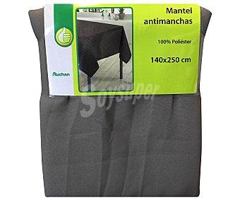 Productos Económicos Alcampo Mantel 100% poliéster, color marrón pardo liso, 140x250 centímetros 1 Unidad