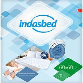 IndasBed Protector de cama 60x60 Paquete 20 unid