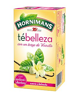 HORNIMANS Té de la Belleza (Mezcla de Té, Té Verde y Aroma de Vainilla) 20 Bolsitas 35 Gramos