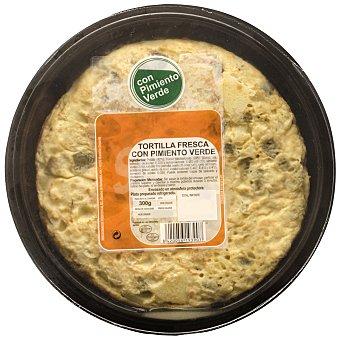 Carrefour Tortilla con pimientos verdes Envase de 300 g