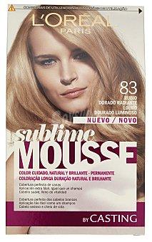Sublime L'Oréal Paris Tinte coloración permanente espuma Nº 83 rubio dorado radiante Casting Crème Gloss 1 unidad