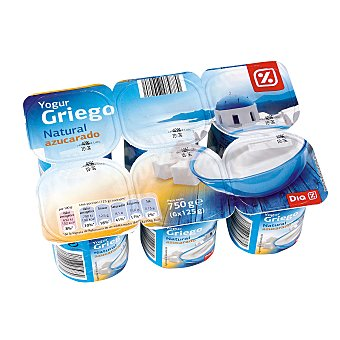 DIA Yogur griego natural azucarado Pack 6 unidades 125 g