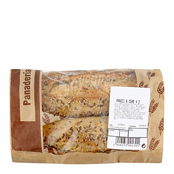 Carrefour Panecillo 6 cereales Bolsa de 2 ud