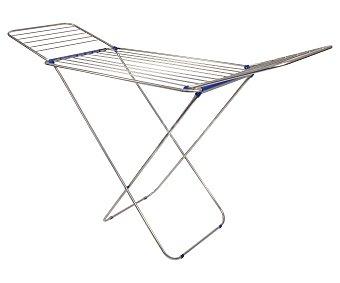 IDEALCASA Tendedero plegable de aluminio. Amplitud de secado: 18 metros lineales, 175x55x110 centímetros 1 Unidad