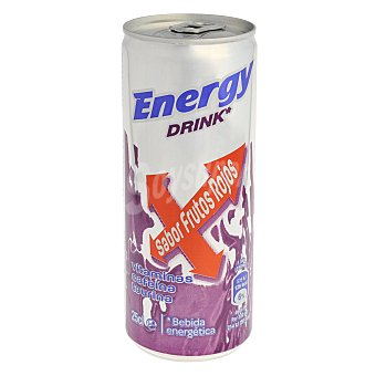 Carrefour Bebida energética Carrefour sabor frutos rojos 25 cl