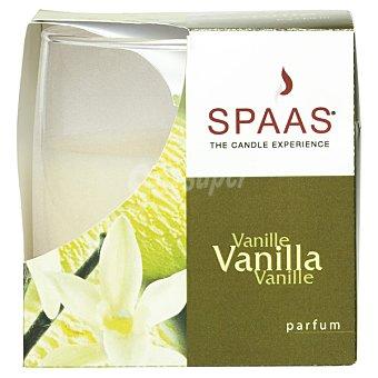 SPAAS Vela Perfumada en vaso de cristal mate aroma Vainilla