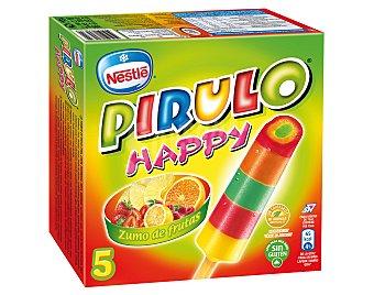 NESTLE PIRULO Happy helado de zumo de frutas sin gluten estuche 375 ml 5 unidades