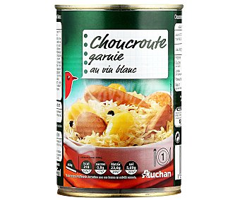 Auchan Choucroute con carne de cerdo y Patatas al vino blanco Lata de 400 Gramos