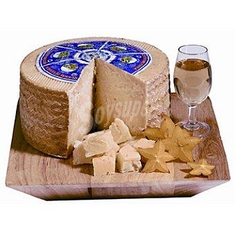 Nardo Queso castellano curado leche cruda de oveja pieza 1,4 kg con regalo de vino Argum caja 3 botellas 75 cl 1,4 kg