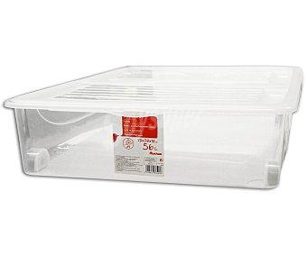 Auchan Bajo cama multiusos con capacidad de 56.4 litros y fabricado en plástico transparente 1 Unidad