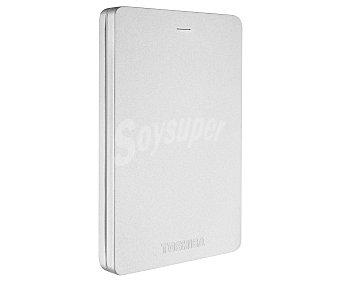 TOSHIBA CANVIO ALU Disco duro portátil externo de 2.5 pulgadas Plata, 1TB de almacenamiento, Usb 2.0 y 3.0,